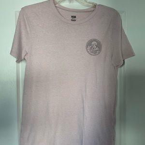 Vans Tee Shirt, Small, light Pink